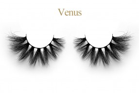 Venus - 25mm silk mink eyelash extensions new private lash book case