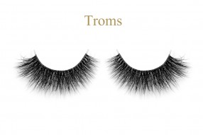 Troms-3D invisible band mink lashes
